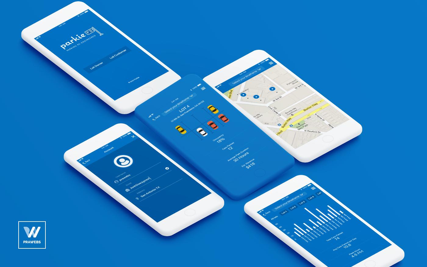 Mobile Design Inspiration Parkie